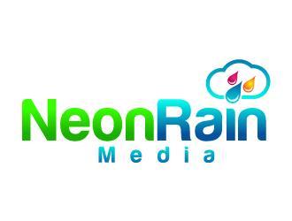 Neon Rain Media logo design