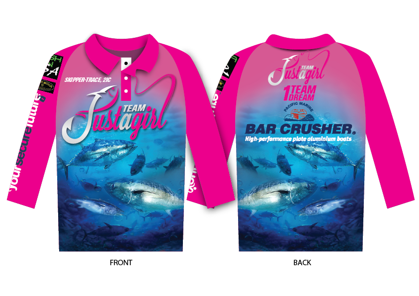 T shirt design portfolio by 48hourslogo for Fishing team shirts