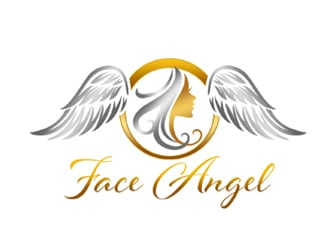 Face angel logo design Angel logo design