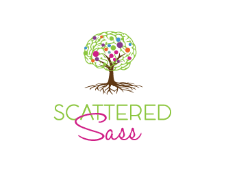 Scattered Sass logo design
