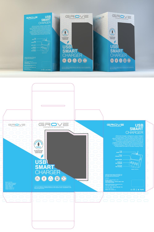 (Grove) smart phone charger logo design
