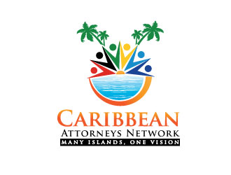 "Caribbean Attorneys Network - (tagline) ""Many Islands, One Vision"" logo design"