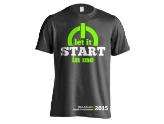 Let It Start in Me logo design