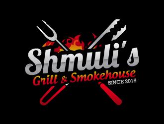 Shmuli's Grill & Smokehouse logo design