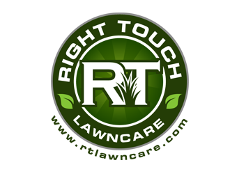RightTouch LawnCare logo design