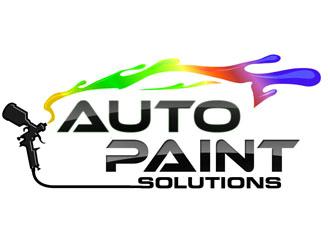 auto paint solutions logo design 48hourslogocom