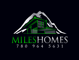 Miles Homes logo design