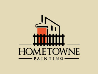 Hometowne Painting logo design