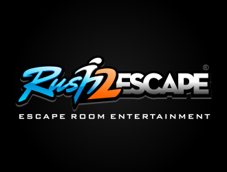 Rush 2 Escape logo design