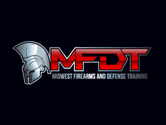 MFDT or Midwest Firearms and Defense Training logo design
