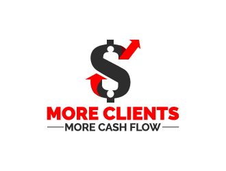 More Clients More Cash Flow logo design