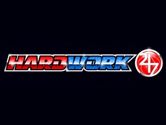 HARDWORK24/7 logo design