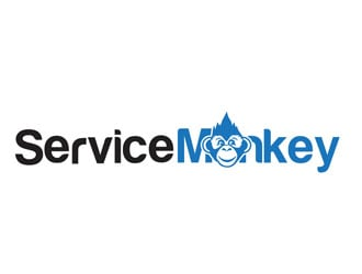 Service Monkey logo design