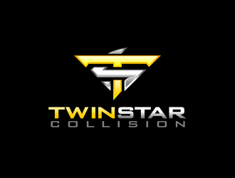 Ts Design ts twinstar collision logo design 48hourslogo com