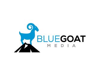 Blue Goat Media logo design