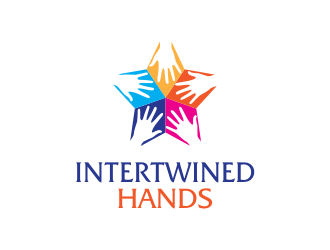 Intertwined Hands logo design