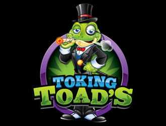 Toking Toad's logo design