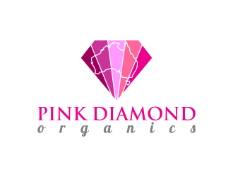PINK DIAMOND Organics logo design