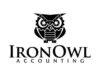 Iron Owl Accounting logo design