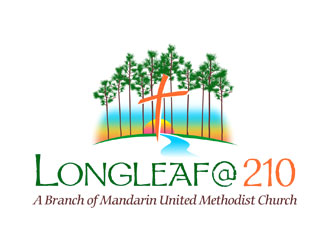 """Longleaf @ 210"" (And then Below that - ""A Branch of Mandarin United Methodist Church"") logo design"