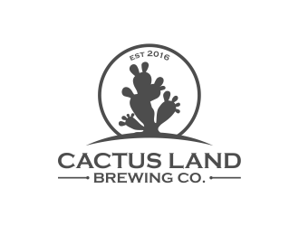 Cactus Land Brewing Co. logo design