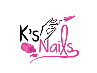 Ks Nails Logo Design Concepts 16