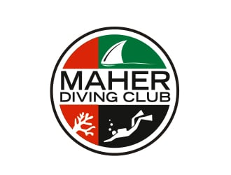 Maher Diving Club logo design