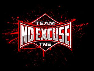 team no excuse logo design