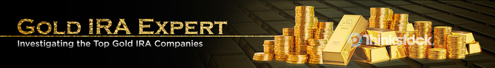 Gold IRA Expert Header logo design