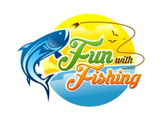 fun with fishing logo design 48hourslogocom