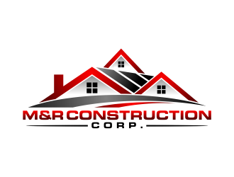 M&R construction corp. logo design