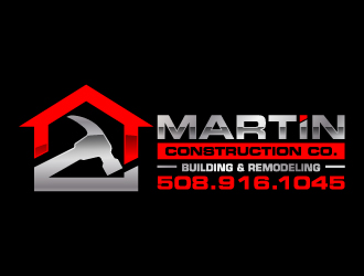 Martin Construction Co. logo design