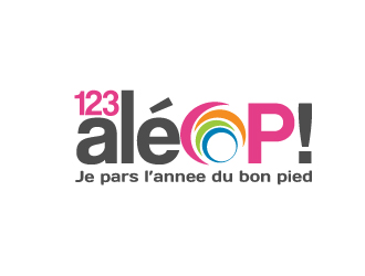 1 2 3 Aléop ! logo design