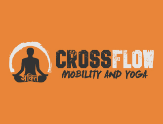 CrossFlow - Mobility and Yoga logo design