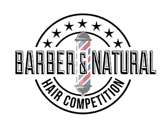 BARBER AND NATURAL HAIR COMPETITION logo design