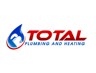 Total Plumbing and Heating logo design - 48HoursLogo.com