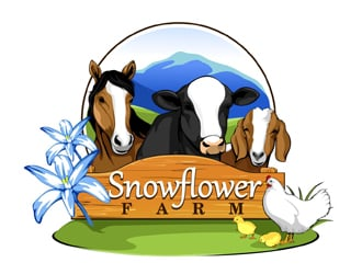 Snowflower Farm logo design
