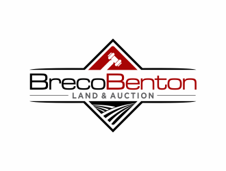 Breco Benton Land & Auction logo design