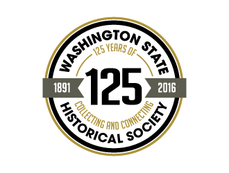Washington State Historical Society 125 logo design