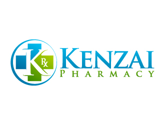 Kenzai Pharmacy logo design