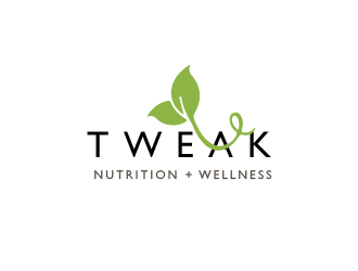 Tweak Nutrition + Wellness logo design