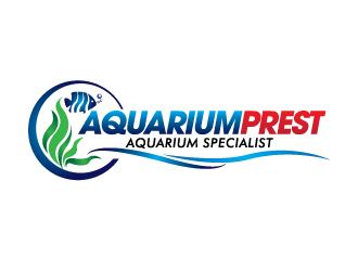Aquariumprest or AquariumPrest or Aquarium Prest logo design
