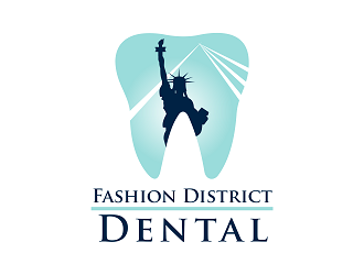 Fashion District Dental logo design