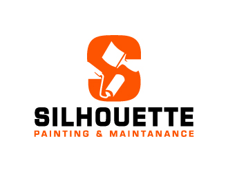 Silhouette Painting & Maintanance logo design
