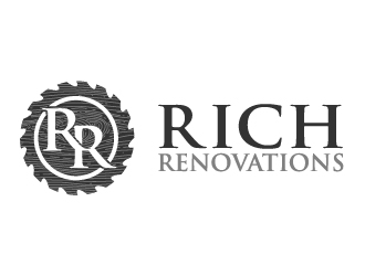 Rich Renovations logo design