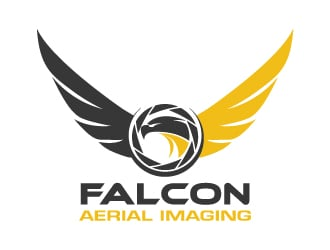 falcon aerial imaging logo design