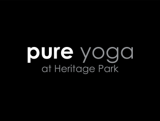 Pure Yoga at Heritage Park logo design