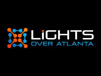 Lights Over Atlanta logo design