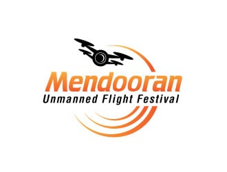 Mendooran Unmanned Flight Festival logo design