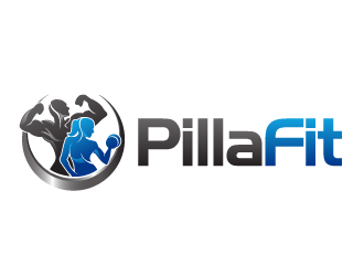 Pilla Fit logo design